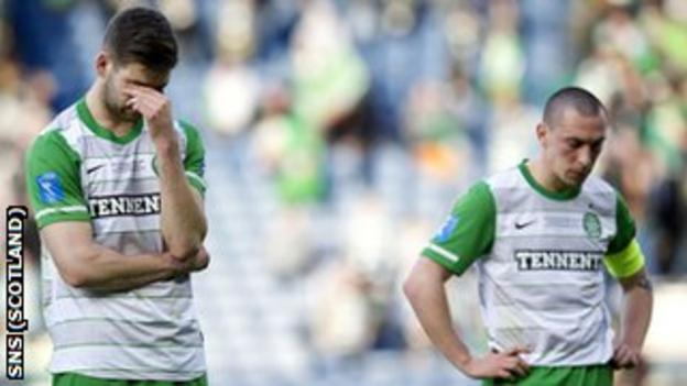 Celtic players Charlie Mulgrew and Scott Brown