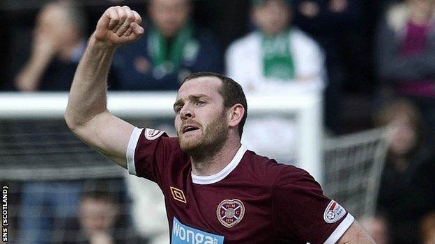 Hearts striker Craig Beattie