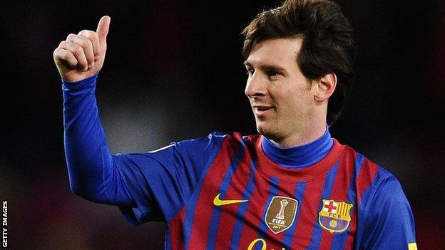 Barcelona supserstar Lionel Messi