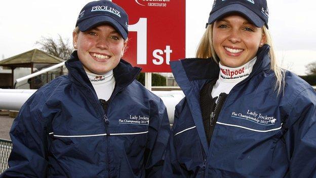 Swedish Jockey Nicole Nordblad and her British counterpart Leonna Mayor