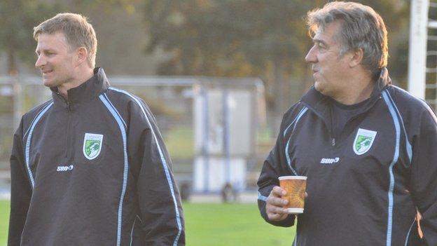Tony Vance (left) and assistant Colin Fallaize