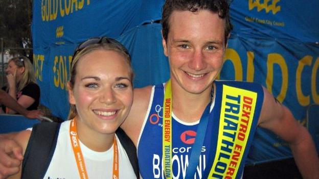 Emma Deakin and Alistair Brownlee