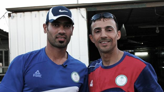 Haider Rashid and Hamza Hussein, Iraqi Olympic rowers