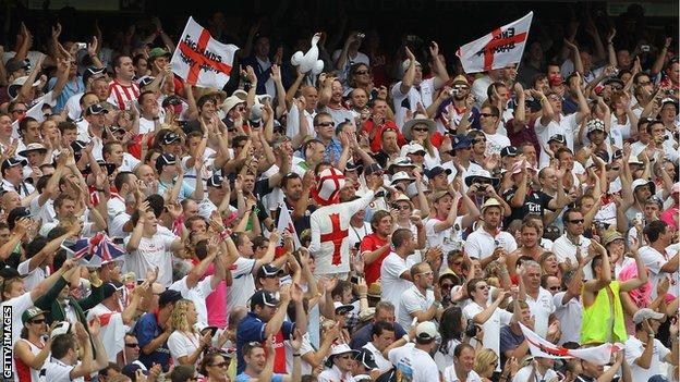 England supporters in action