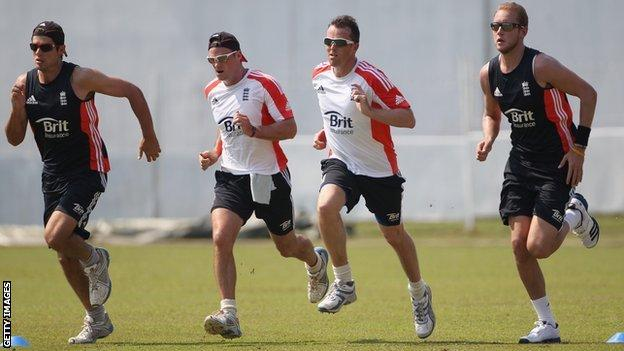 England players train in Galle