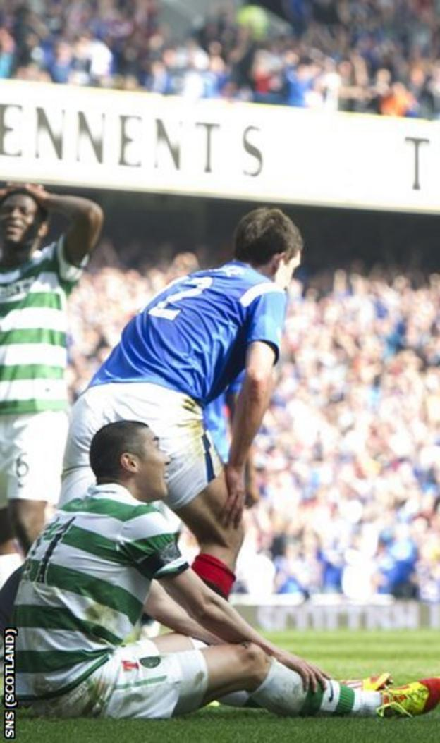 Cha was sent off for Celtic after 29 minutes at Ibrox