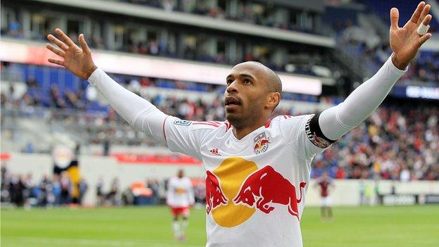 New York Red Bulls captain Thierry Henry