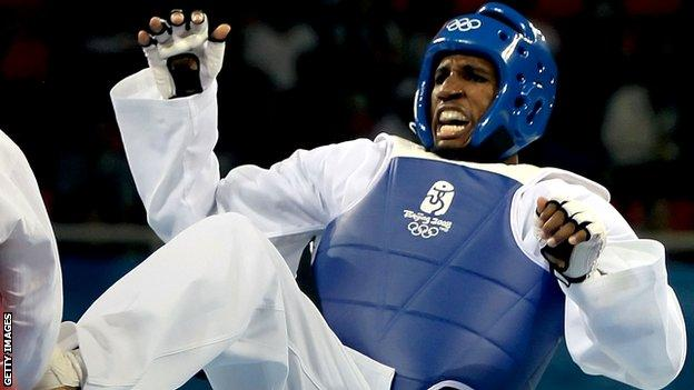 Chika Chukwumerije on his way to a bronze medal in Beijing
