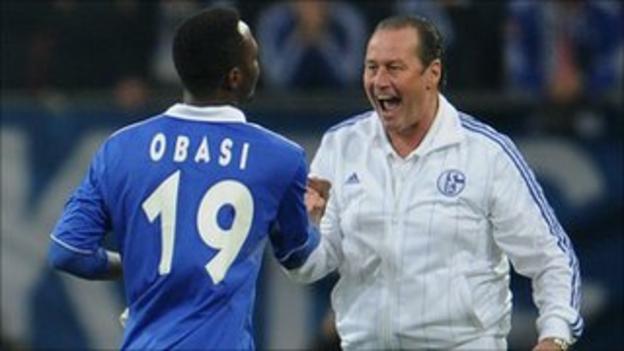 Chinedu Obasi has impressed Schalke coach Huub Stevens since joining in December