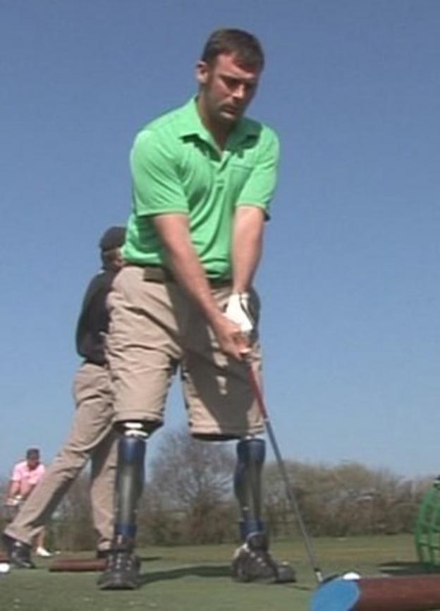 Amputee golfer Ian Bishop