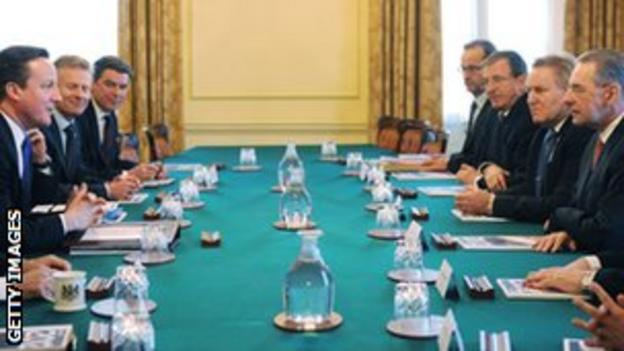 Prime Minister David Cameron holds a meeting with the International Olympic Committee