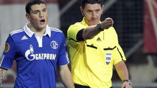 Thomson has refereed top matches in the Champions League and Europa League