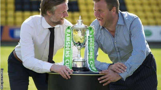 Steven Pressley and Billy Reid will hope to be holding the trophy aloft on Sunday