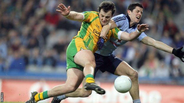 Michael Murphy was injured in last weekend's game against Dublin