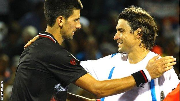 Novak Djokovic and David Ferrer