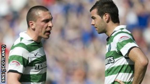 Celtic captain Scott Brown and team-mate Joe Ledley