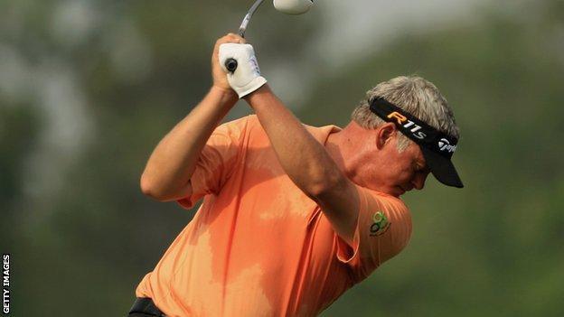 Darren Clarke in action at Houston Open