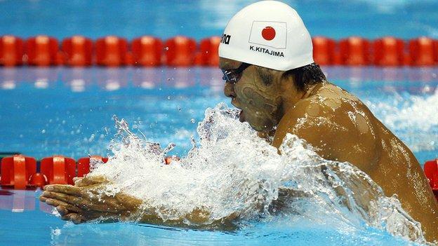 Kosuke Kitajima swimming breaststroke