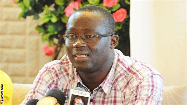 The Senegal Football Association president Augustin Senghor