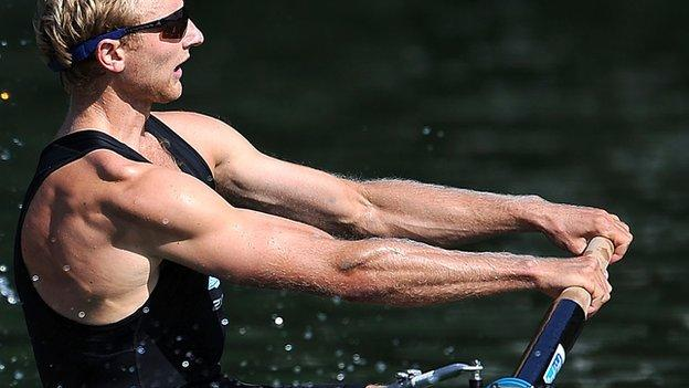 Hamish Bond of the New Zealand Men's Rowing Pair