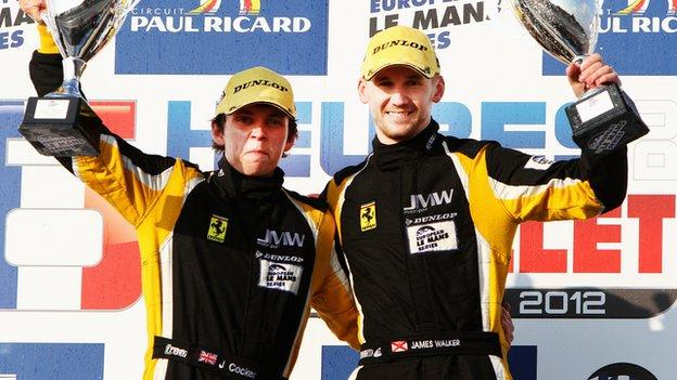 James Walker (right) and Jonny Cocker celebrate victory