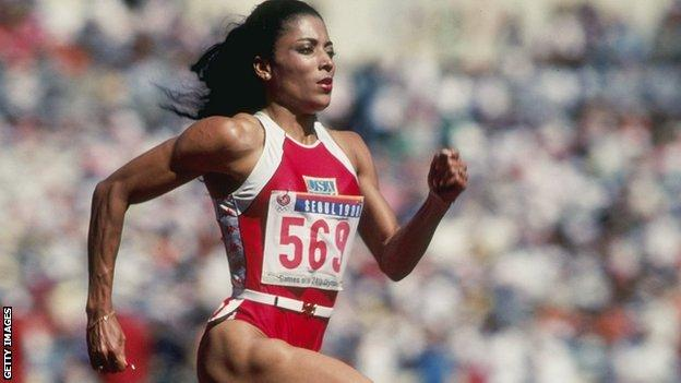 Former three-time Olympic champion Florence Griffith-Joyner