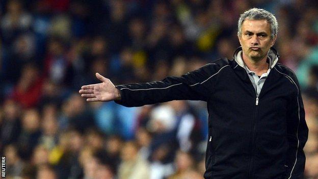 Real Madrid coach Jose Mourinho