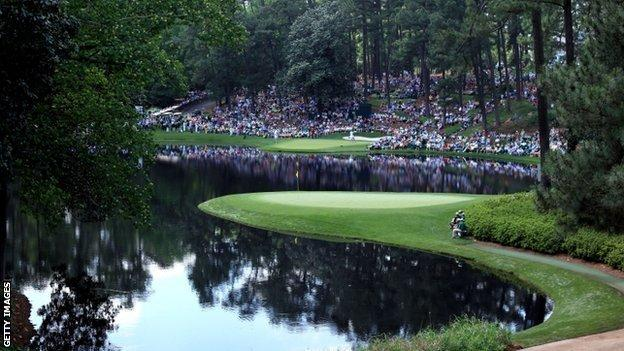 A general view of the par three course is seen during the Par 3 Contest prior to the start of the 2012 Masters Tournament at Augusta National Golf Club on 4 April