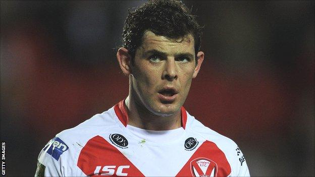 St Helens full-back Paul Wellens