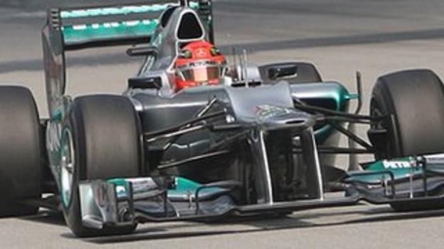 Michael Schumacher in the Mercedes