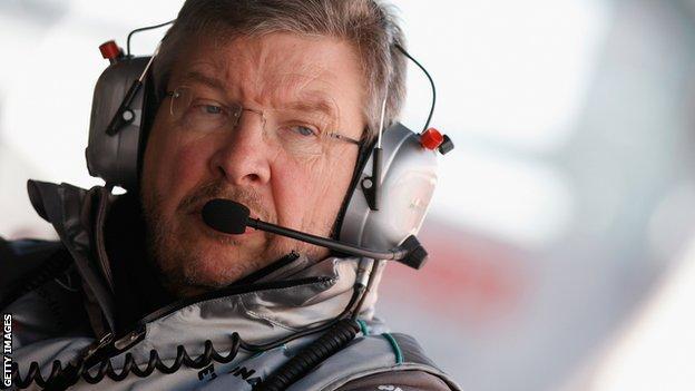 Mercedes boss Ross Brawn