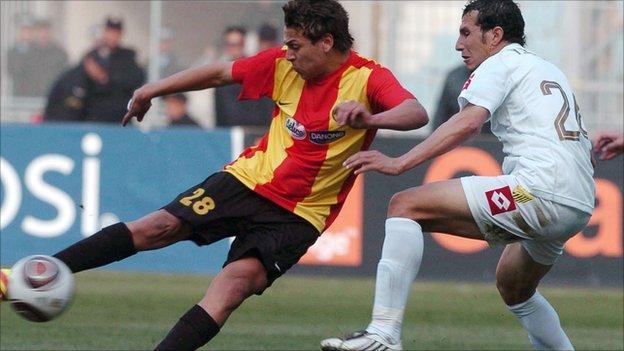 Esperance's Tunisian midfielder Youssef Msakni