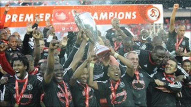 Orlando Pirates lift the 2011 PSL title