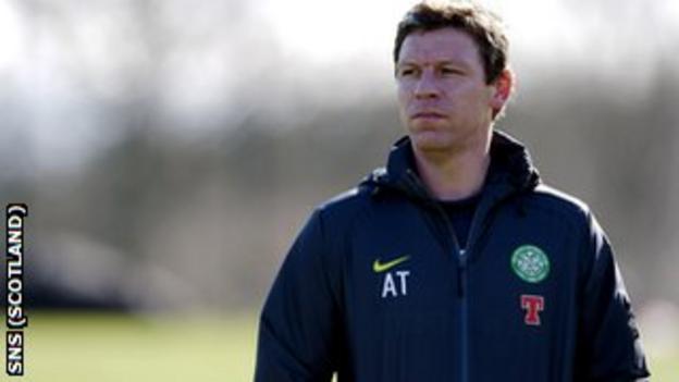 Celtic first team coach Alan Thompson