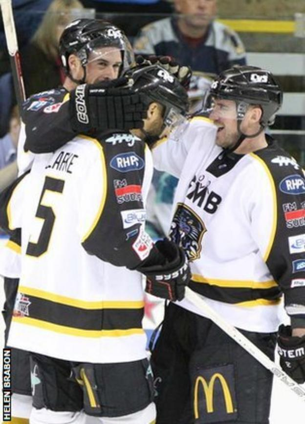 Nottingham Panthers players celebrate