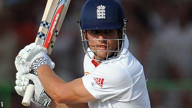 England batsman Alastair Cook