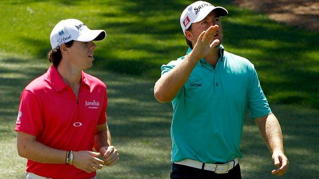 Graeme McDowell played with Rory McIlroy in Sunday's final round
