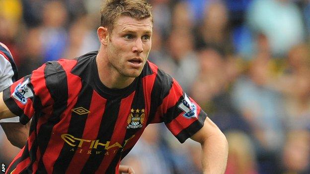 Manchester City midfielder James Milner