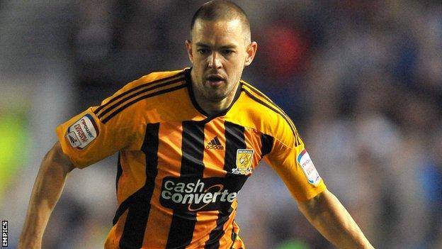 Hull City striker Matt Fryatt