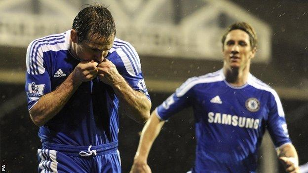 Frank Lampard scored his 150th goal for Chelsea