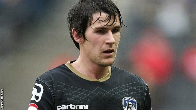 Oldham Athletic full-back Kieran Lee