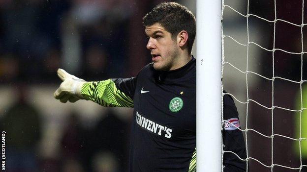 Goalkeeper Fraser Forster has been on loan at Celtic for two seasons