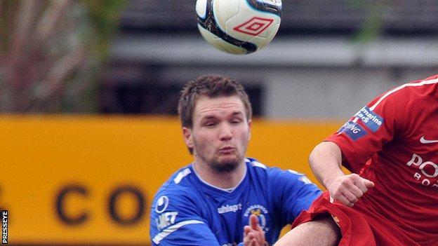 Ryan Harpur scored Dungannon's late winner at Stangmore Park.