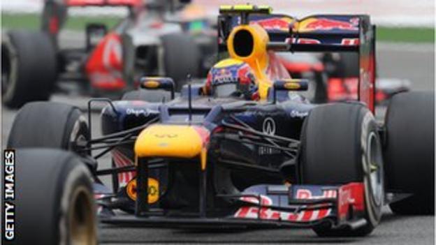 Red Bull's Mark Webber struggled after a difficult start in Shanghai