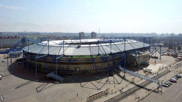 Metalist Stadium in Kharkiv, which is one of four Ukrainian cities hosting matches at Euro 2012