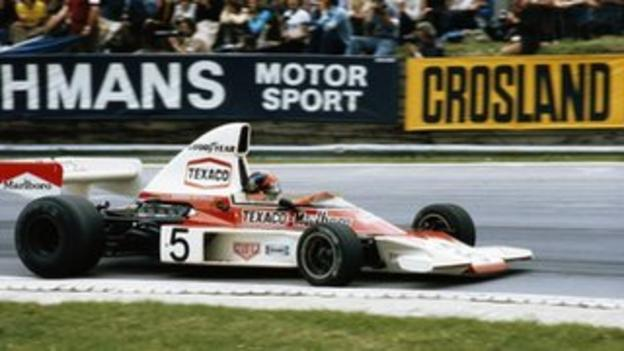 Emerson Fittipaldi in the McLaren