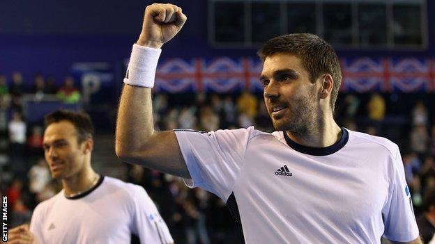 Scottish doubles player Colin Fleming
