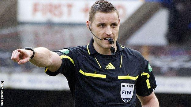 Scottish referee Steven McLean