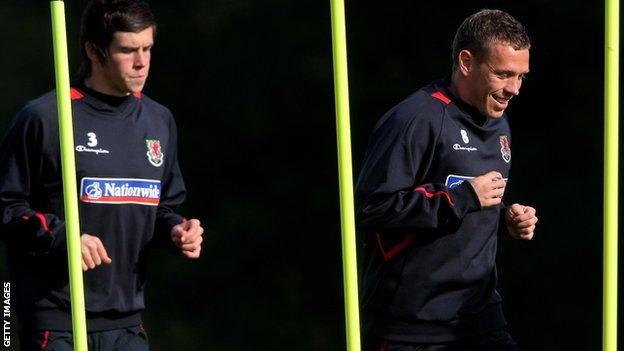 Gareth Bale and Craig Bellamy
