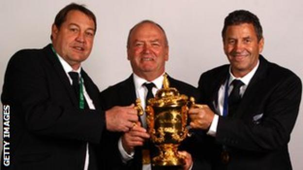 All Blacks coaches Steve Hansen, Graham Henry and Wayne Smith